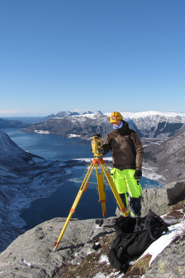 Surveying at Svartisen in Norway